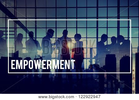 Empowerment Empower Enable Authorize Liberate Concept