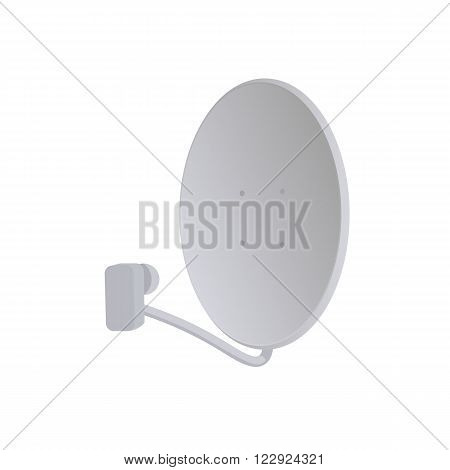 Receiver. Satelite dish. Satelite vector illustration. Satelite dish white background. Satelite dish vector. Satelite dish isolated vector.
