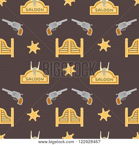Saloon Seamless Patten
