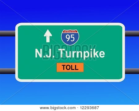 New Jersey Turnpike Interstate 95 sign illustration JPG