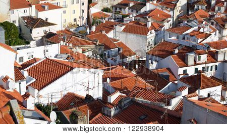 Alfama downtown in Lisbon, Portugal.