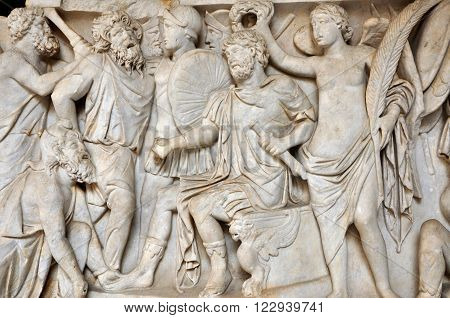 Bas-relief And Sculpture Of Ancient Roman People