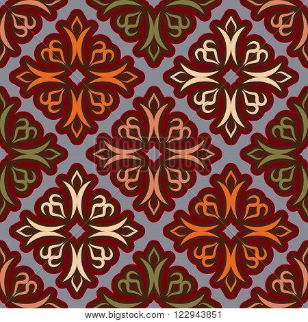 Uzbek Pattern. Traditional National Pattern Of Uzbekistan. Texture Pattern Peoples Of Central Asia.