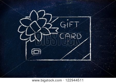 Retailer's Gift Card With Bow