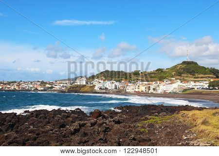 Praia das Milicias (Militias beach) near Ponta Delgada Sao Miguel island Azores Portugal
