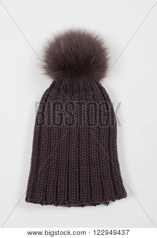Woolly Hat accessories isolated on white background