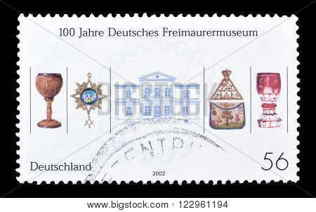 GERMANY - CIRCA 2002 : Cancelled postage stamp printed by Germany, that shows Museum artefacts.