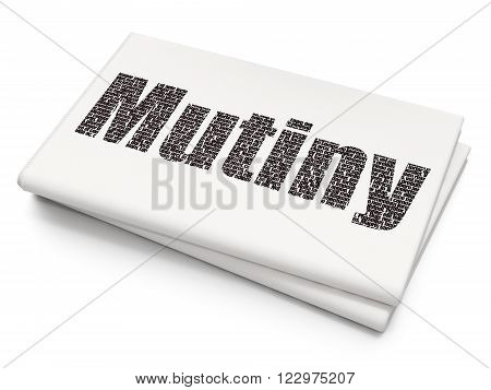 Political concept: Mutiny on Blank Newspaper background