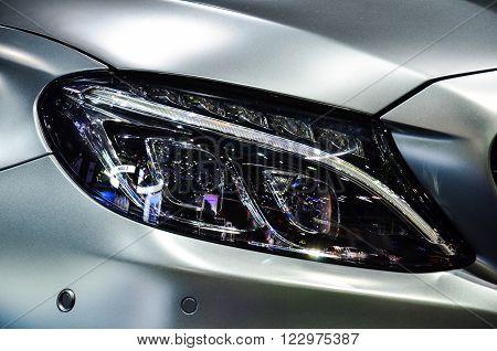 Headlight of automobile, for drive into dark.