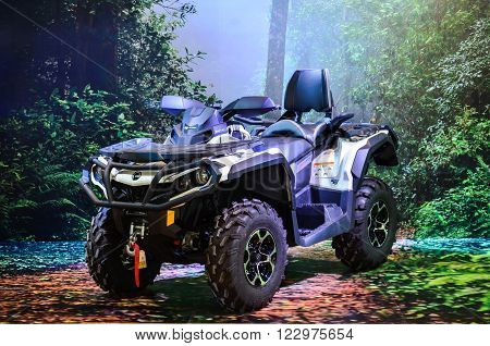 NONTHABURI - MARCH 22: Can-Am ATV on display at The 37th Bangkok International Thailand Motor Show 2016 on March 22, 2016 Nonthaburi, Thailand.