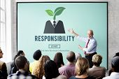 Responsibility Roles Duty Task Obligation Responsible Concept poster