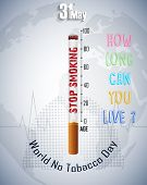 Illustration of World No Tobacco Day Stop smoking idea concept poster