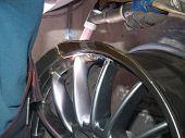 argon welding, repair of broken titanium disk poster