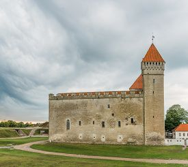 Medieval Kuressaare Castle On the Island  of Saarema, Estonia