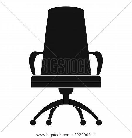 Director chair icon. Simple illustration of director chair vector icon for web.