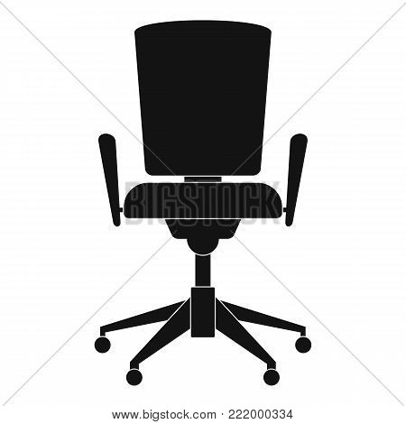 Chair with back icon. Simple illustration of chair with back vector icon for web.