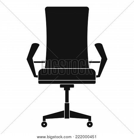 Comfortable chair icon. Simple illustration of comfortable chair vector icon for web.
