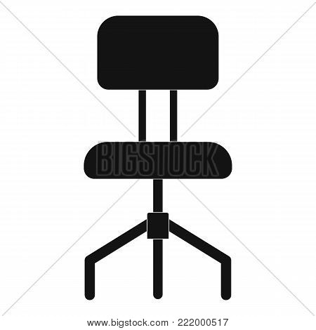 Hard chair icon. Simple illustration of hard chair vector icon for web.