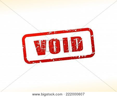 Illustration of void text buffered on white background
