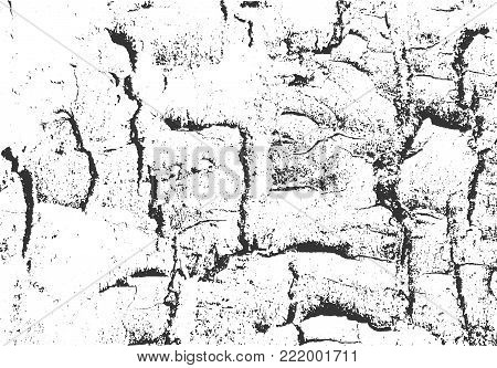 Wooden Texture. Grunge Vector Background. Distressed Overlay. Black And White Abstract Surface.