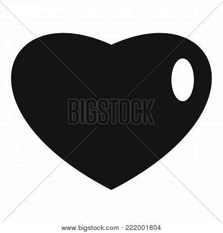 Three-dimensional heart icon. Simple illustration of three-dimensional heart vector icon for web.