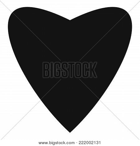 Proud heart icon. Simple illustration of proud heart vector icon for web.