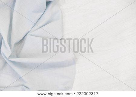 Kitchen blue color kitchen cloth border isolated.Food decoration.Textile domestic kitchen symbol.
