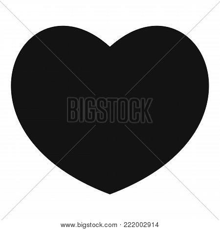 Sympathetic heart icon. Simple illustration of sympathetic heart vector icon for web.