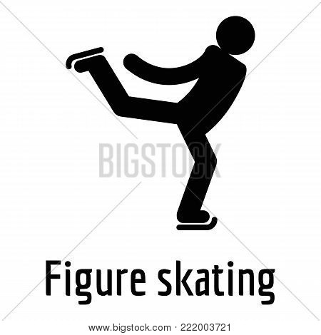 Figure skating icon. Simple illustration of figure skating vector icon for web.