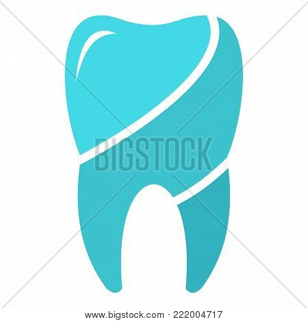 Wise tooth logo icon. Flat illustration of wise tooth vector icon for web.