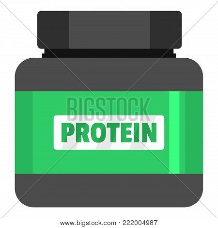 Protein icon. Flat illustration of protein vector icon for web.