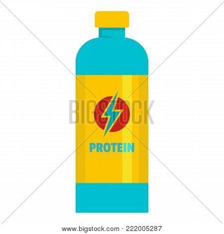 Liquid protein icon. Flat illustration of liquid protein vector icon for web.