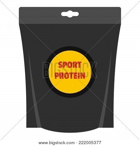 Protein powder icon. Flat illustration of protein powder vector icon for web.
