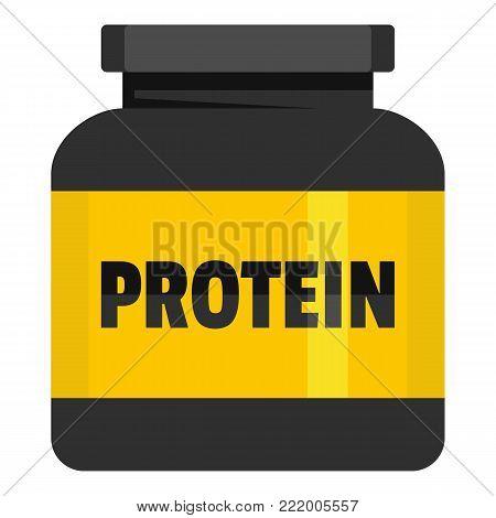 Kilogram protein icon. Flat illustration of kilogram protein vector icon for web.