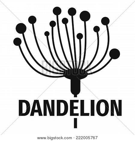 Cute dandelion logo icon. Simple illustration of cute dandelion vector icon for web.
