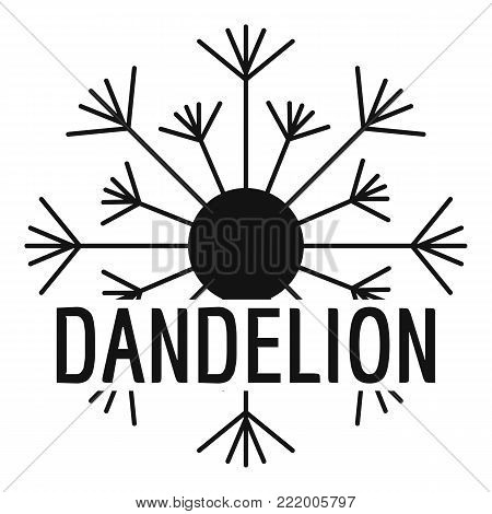 Aerial dandelion logo icon. Simple illustration of aerial dandelion vector icon for web.