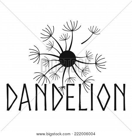 Blooming dandelion logo icon. Simple illustration of blooming dandelion vector icon for web.
