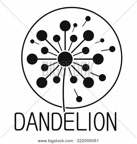 Faded dandelion logo icon. Simple illustration of faded dandelion vector icon for web.