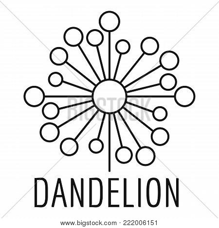 Torn dandelion logo icon. Simple illustration of torn dandelion vector icon for web.