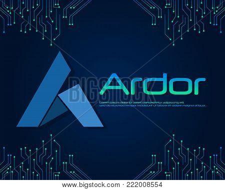 Ardor blockchain style background collection vector illustration