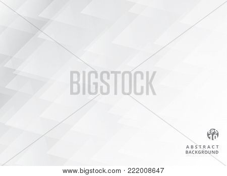 Abstract geometric overlay elegant white and grey background. Triangle pattern. Vector illustration