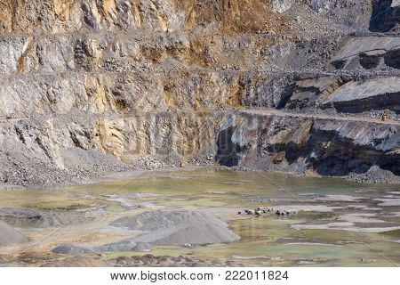 Limestone quarry in Poland