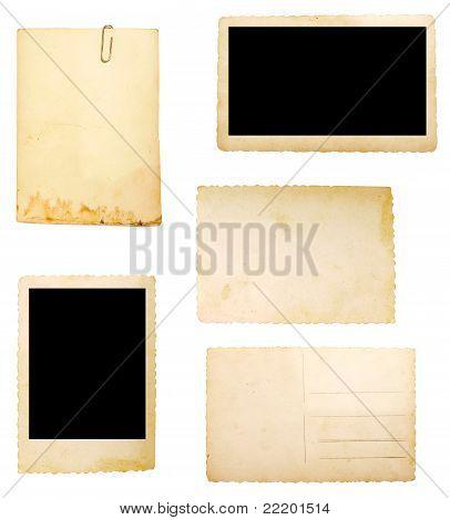 braun alte Papier Hinweis Hintergrund