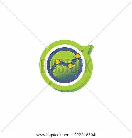 Business profit cart always grow. Concept of business profit. Vector design with green