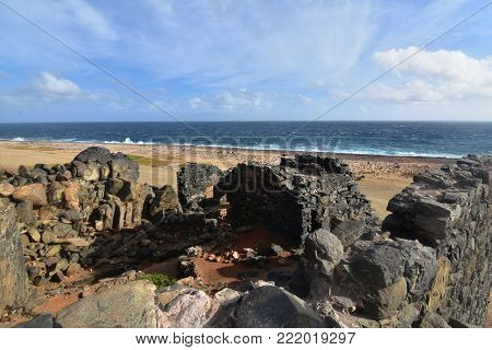 Stunning gold mill ruins still standing in Aruba