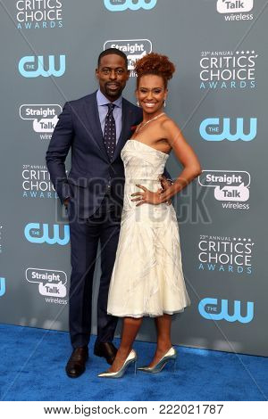 LOS ANGELES - JAN 11:  Sterling K Brown, Ryan Michelle Bathe at the 23rd Annual Critics' Choice Awards at Barker Hanger on January 11, 2018 in Santa Monica, CA