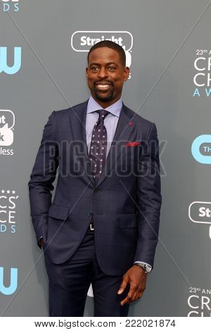 LOS ANGELES - JAN 11:  Sterling K Brown at the 23rd Annual Critics' Choice Awards at Barker Hanger on January 11, 2018 in Santa Monica, CA