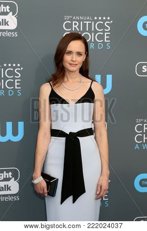 LOS ANGELES - JAN 11:  Alexis Bledel at the 23rd Annual Critics' Choice Awards at Barker Hanger on January 11, 2018 in Santa Monica, CA
