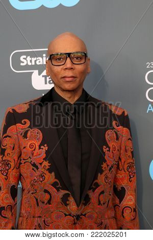 LOS ANGELES - JAN 11:  RuPaul Charles at the 23rd Annual Critics' Choice Awards at Barker Hanger on January 11, 2018 in Santa Monica, CA