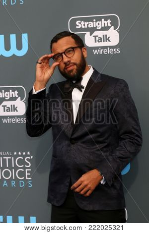 LOS ANGELES - JAN 11:  O-T Fagbenle at the 23rd Annual Critics' Choice Awards at Barker Hanger on January 11, 2018 in Santa Monica, CA